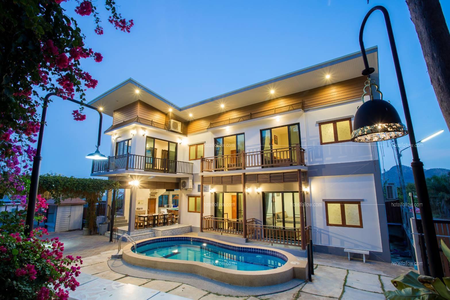 โรงแรม บ้านกีตาร์ หัวหิน พูลวิลล่า (ปิ้งย่าง ทำอาหารได้ 4 นอน)