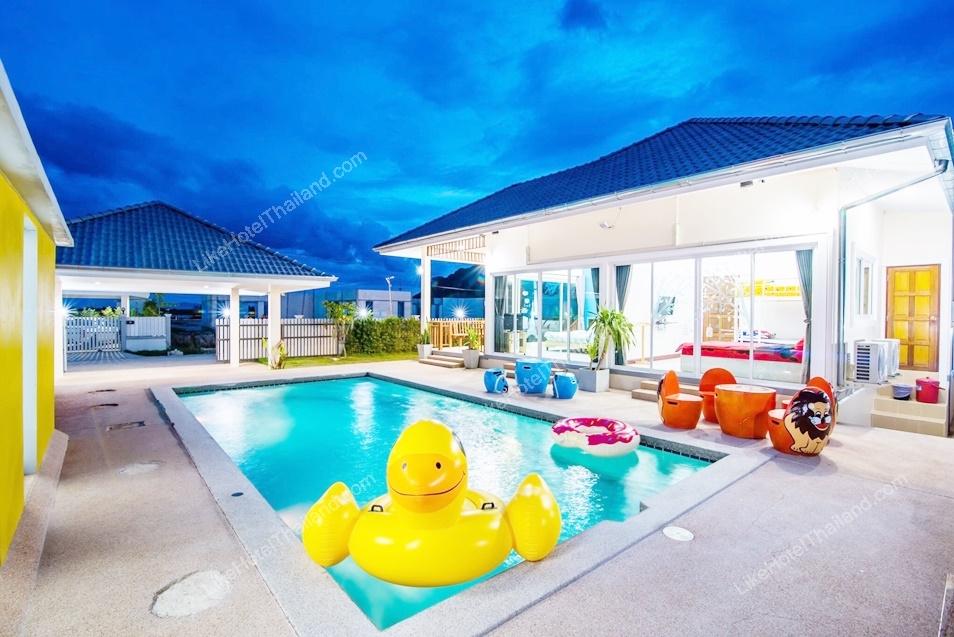 รูปของโรงแรม โรงแรม บ้านแอมมี่ 5 พูลวิลล่า ชะอำ { สระส่วนตัว ปิ้งย่าง ทำอาหารได้ }