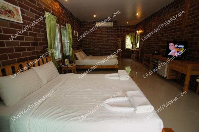 บ้านอิฐแฝด 1 ห้องนอน (พัก 4 ท่า่น)